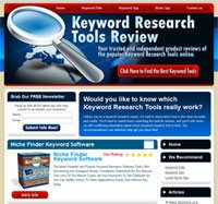Image showing CBProAds' keyword research tools review nichez storefront with a magnifying glass