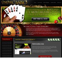 Image showing CBProAds' online casinoniche storefront with a lady's hand holding cards and a roulette