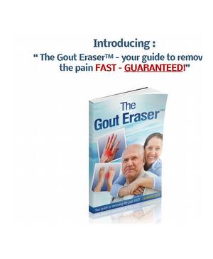Gout Eraser