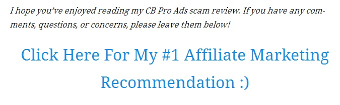 CBproAds.com reviews scam